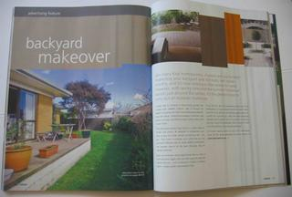 backyard make-over advertorial
