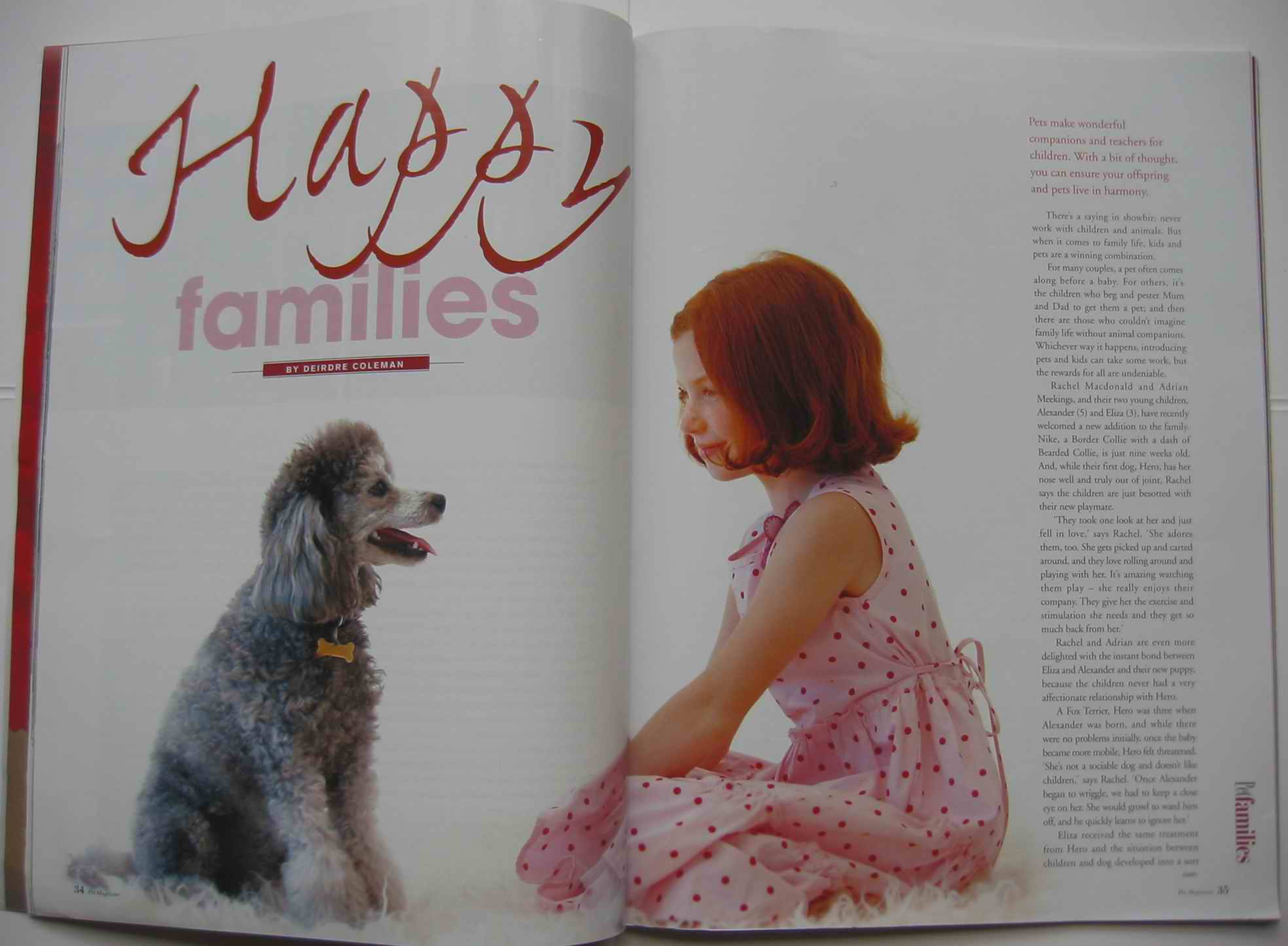 Pets and children feature