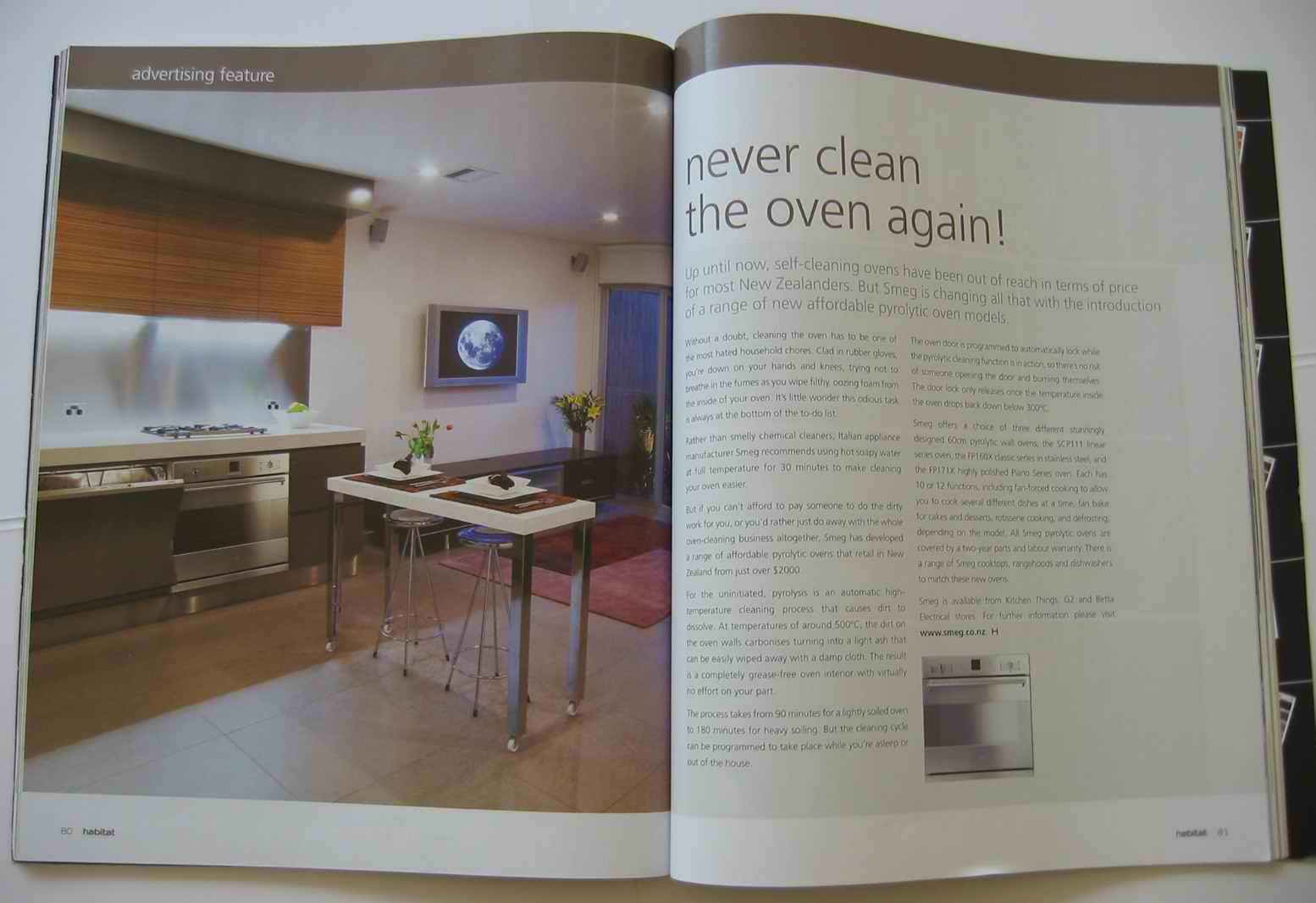 Pyrolitic oven advertorial