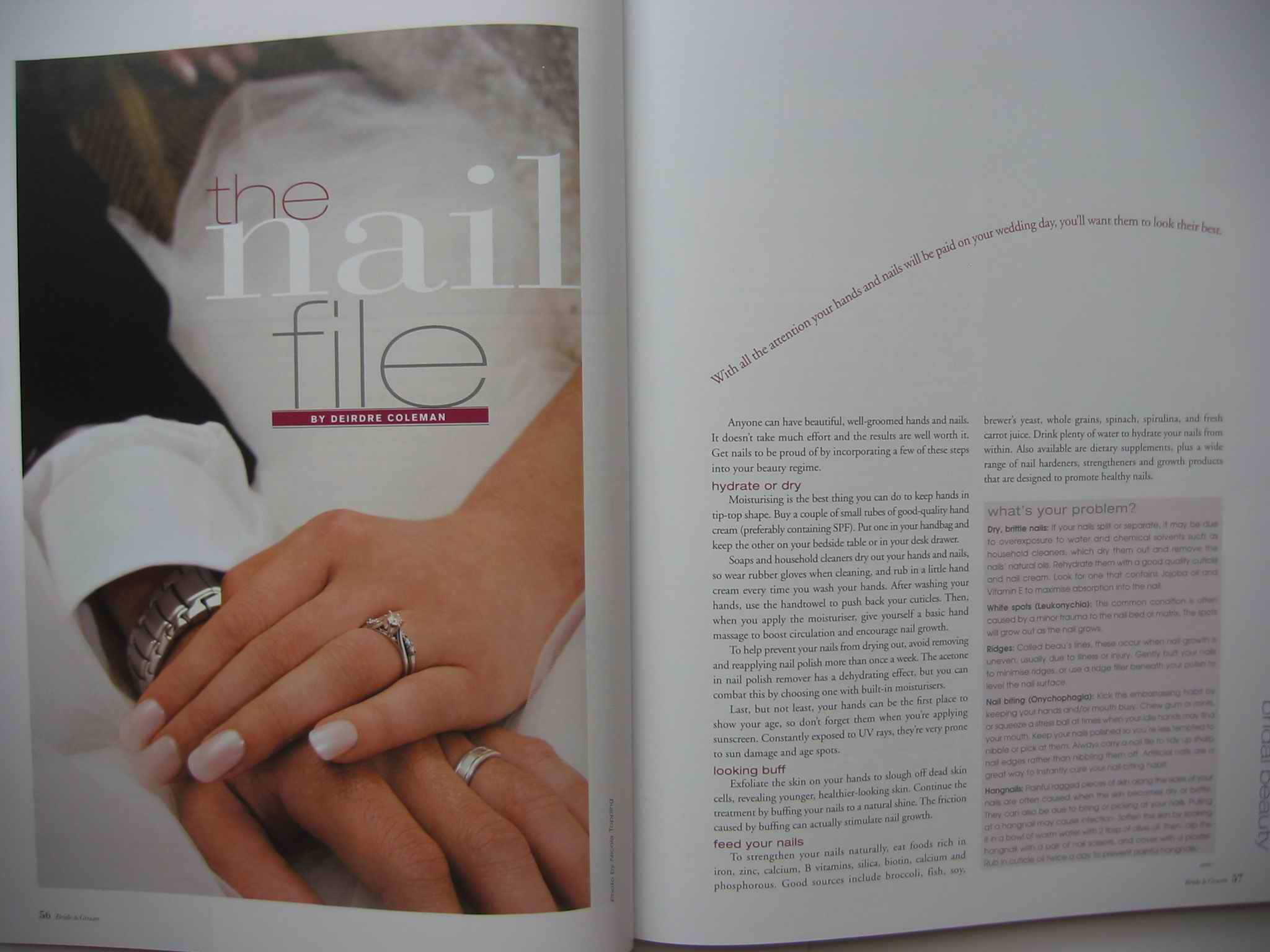 Bridal nail-care feature