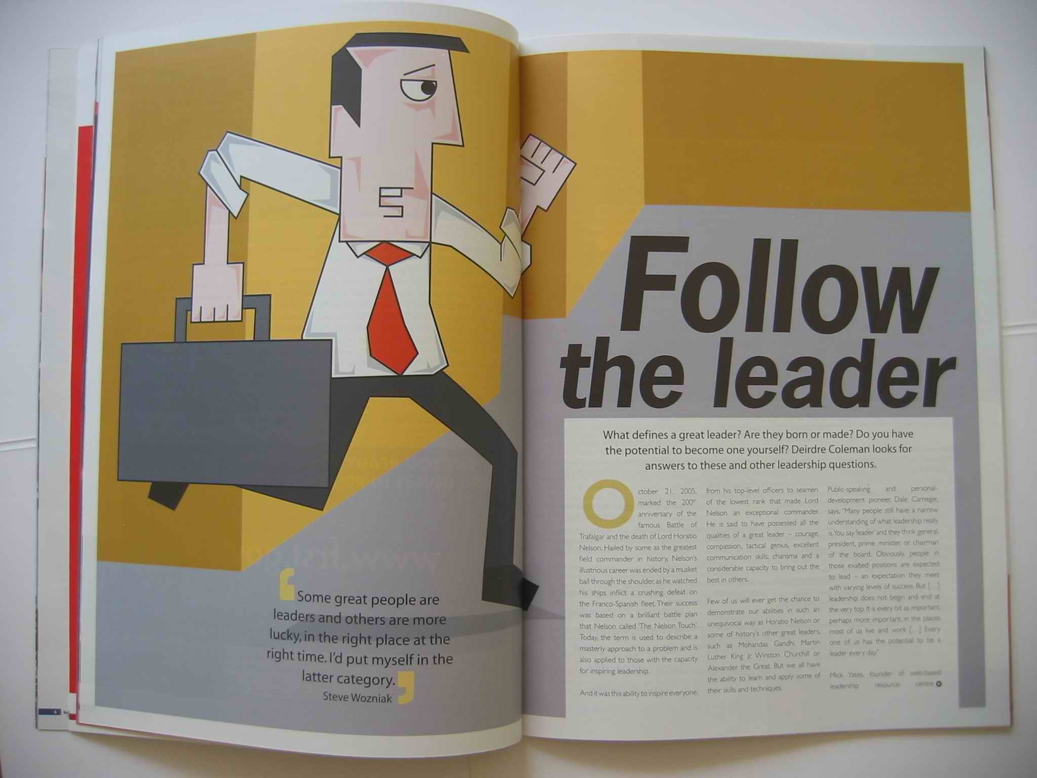 Business leadership feature